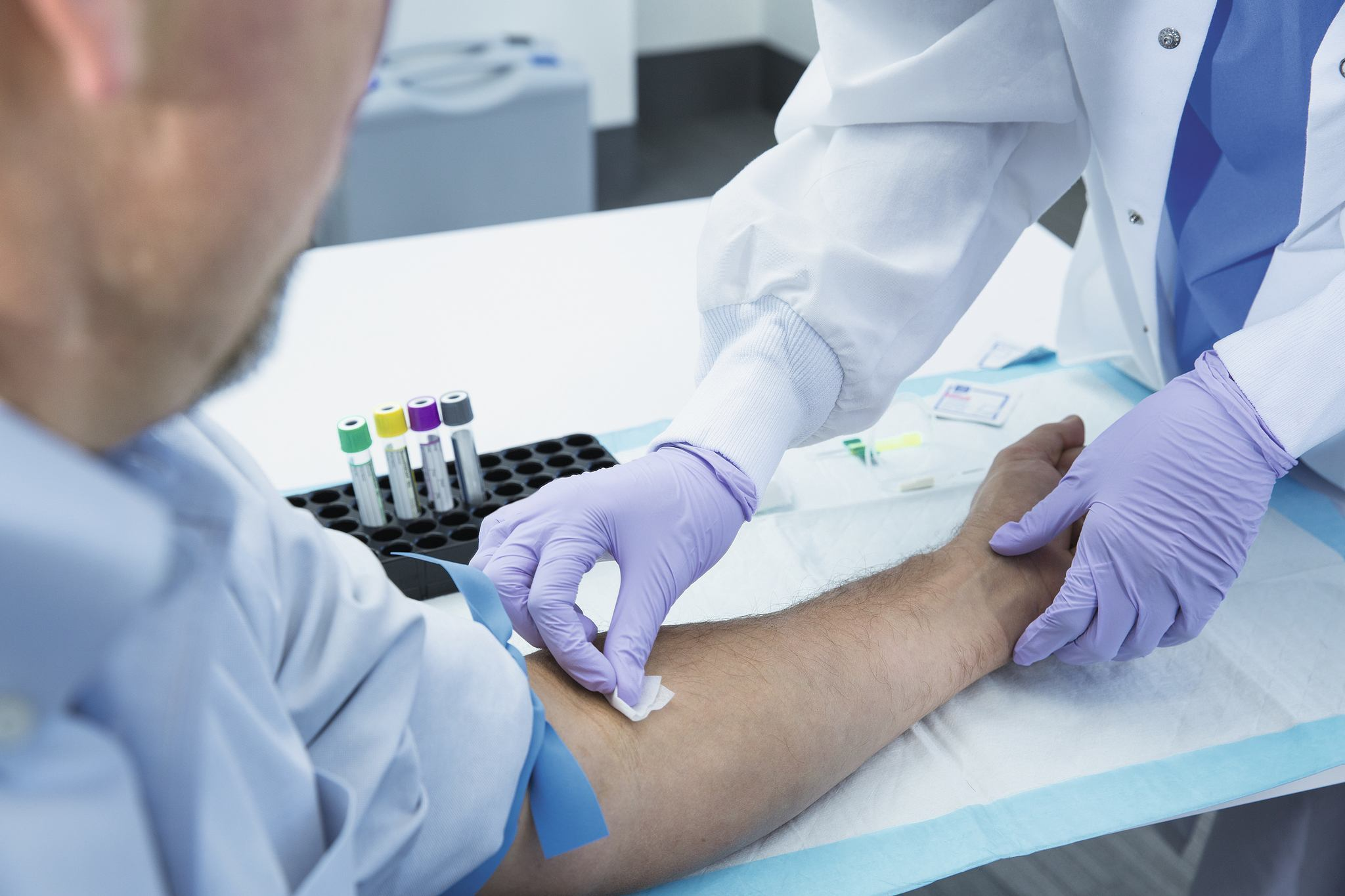 Person having a blood test